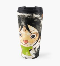 Girl happy laughing watercolor painted Travel Mug