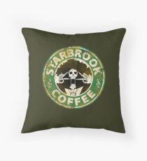 Starbrook Coffee Grunge Throw Pillow