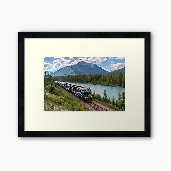 Rocky Mountaineer at Muleshoe Framed Art Print
