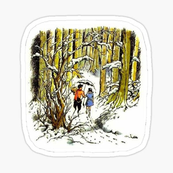 Lucy and Mr. Tumnus - The Lion, the Witch and the Wardrobe Sticker