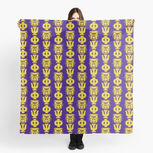 Que Dog Omega Purple Gold Atomic Psi Phi Scarf
