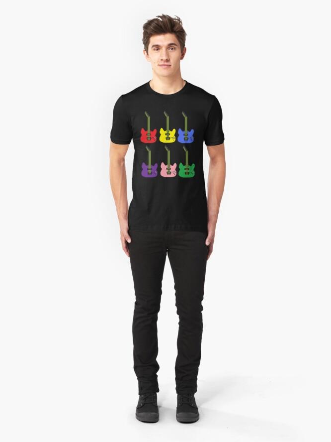 Alternate view of Rainbow Guitar Slim Fit T-Shirt