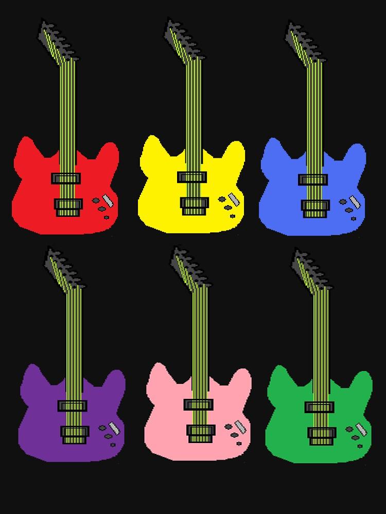 Rainbow Guitar by PrettyNickie
