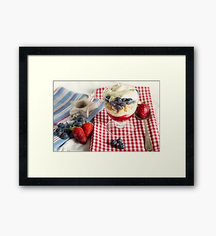 Still Life with Summer Berries Framed Print