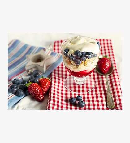 Still Life with Summer Berries Photographic Print