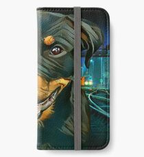Rottweiler Pup - Waiting for the Train :)  iPhone Wallet/Case/Skin