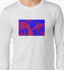 BLUE AND RED x BABY ELEPHANTS  Long Sleeve T-Shirt
