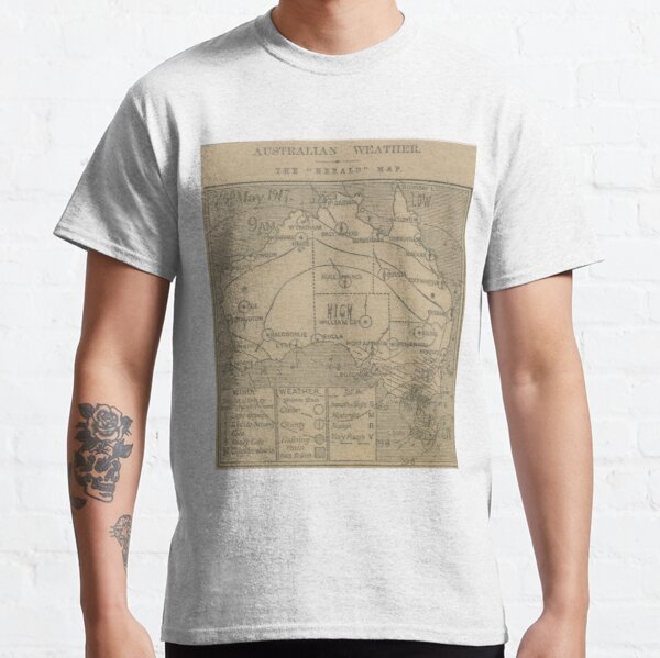 Australian Weather Map 25 May 1917 Classic T-Shirt