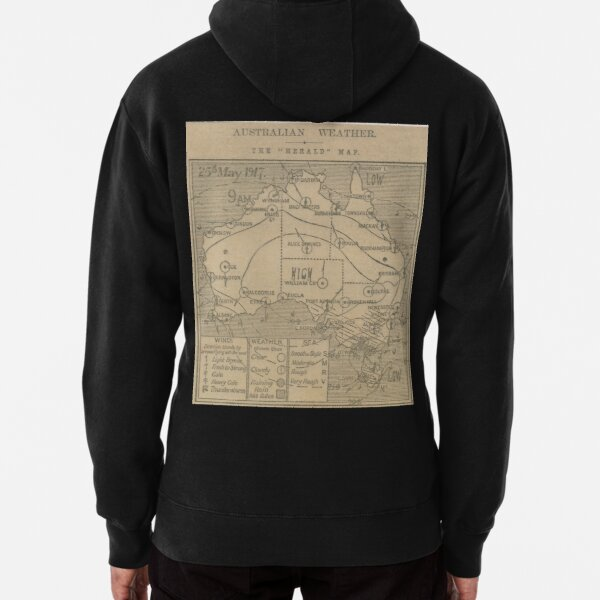 Australian Weather Map 25 May 1917 Pullover Hoodie