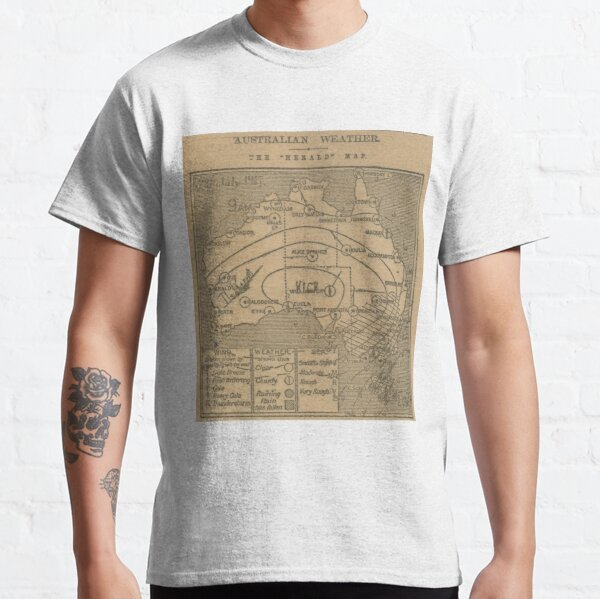 Australian Weather Map 28 July 1917 Classic T-Shirt