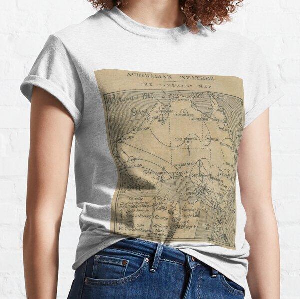 Australian Weather Map 1 August 1917 Classic T-Shirt