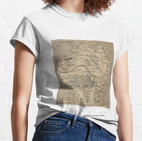 Australian Weather Map 5 February 1924 Classic T-Shirt