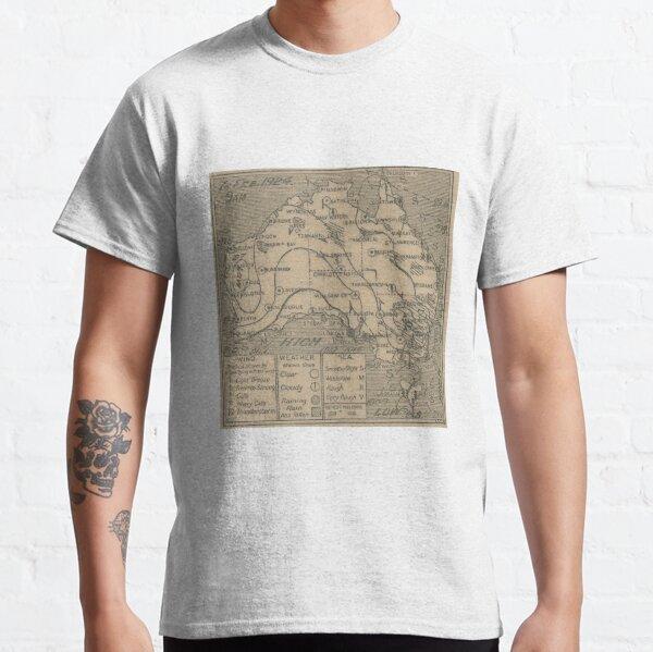 Australian Weather Map 7 February 1924 Classic T-Shirt
