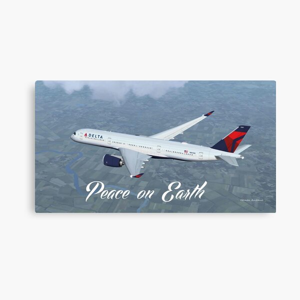 Delta Air Lines Airbus A350-900 Canvas Print