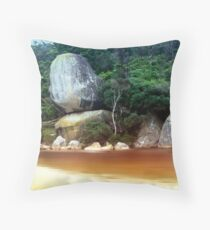 Whale Rock, Wilsons Promontory Throw Pillow
