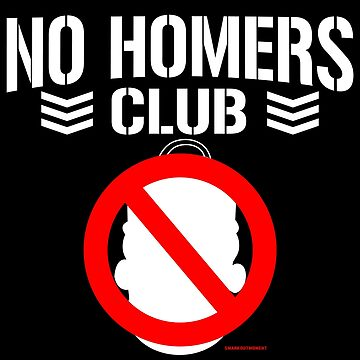 No Homers Club - Bullet Club (white) by SmarkOutMoment