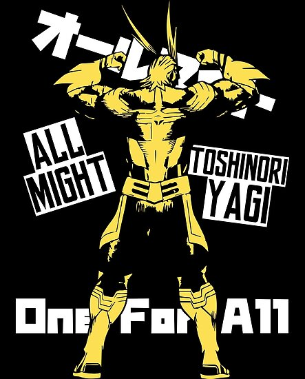 """""""BNHA - All Might"""" Posters By Monsicre"""