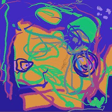 Purple orange abstract pattern by CharlyB