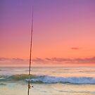 Fishing for a Sunrise - Gold Coast Qld Australia by Beth  Wode