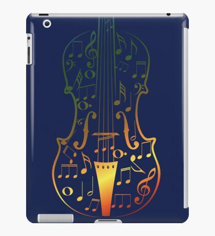 Bunte Violine mit Notizen iPad-Hülle & Klebefolie