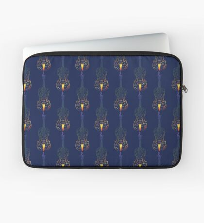Bunte Violine mit Notizen Laptoptasche