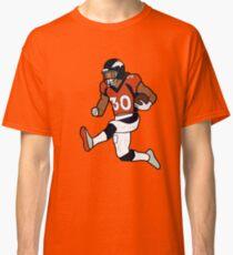Camiseta clásica Celebración de Phillip Lindsay Touchdown - Broncos de Denver