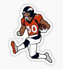 Phillip Lindsay Touchdown Celebration - Denver Broncos Sticker