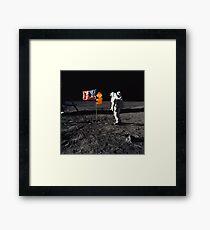 Super Mario On the Moon Framed Print