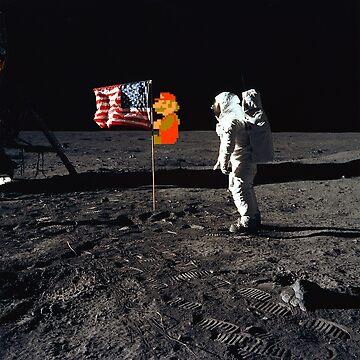 Super Mario On the Moon by greatskybear