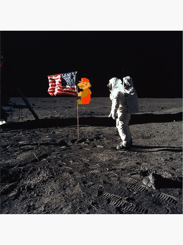 Super Mario en la luna de greatskybear