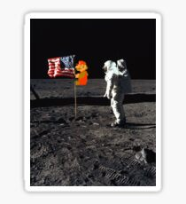 Super Mario On the Moon Sticker