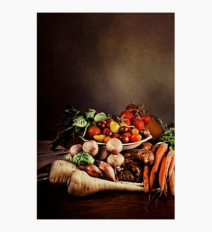 ~ Still Life with Vegetables ~ Photographic Print