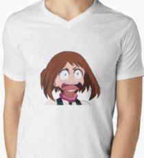 Embarrassed Uraraka Men's V-Neck T-Shirt