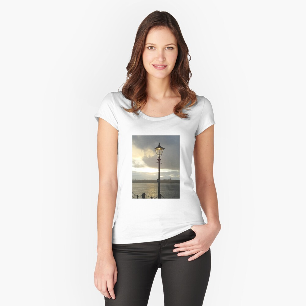 Lamplight over the Mersey Fitted Scoop T-Shirt