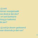 Dromen waarmaken gedicht by Wijzermetirene