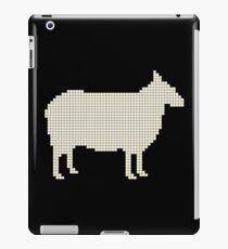 Silhouette sheep white iPad Case/Skin