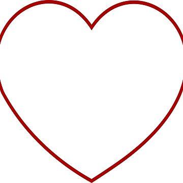Red Minimalistic Heart Shape by xsylx