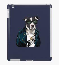 Rocker Border Collie Dressed Dog iPad Case/Skin