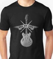 ROCK and GROHL Awesome Drumstick & Guitar ORIGINAL Design! Unisex T-Shirt