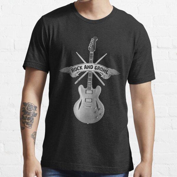 ROCK and GROHL ¡Impresionante baqueta y guitarra con un diseño ORIGINAL! Camiseta esencial
