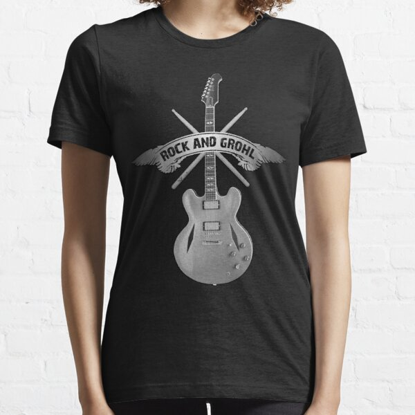 ROCK and GROHL Awesome Drumstick & Guitar ORIGINAL Design! Essential T-Shirt