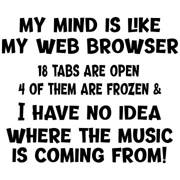 My Mind Is Like My Web Browser by Chunga