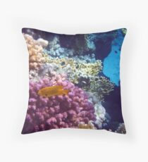 Mysterious Red Sea World 5 Throw Pillow