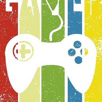 Gamer Controller in Colorful Retro Style by NelloW100