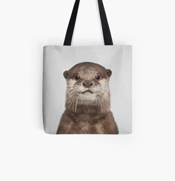 Otter - Colorful All Over Print Tote Bag
