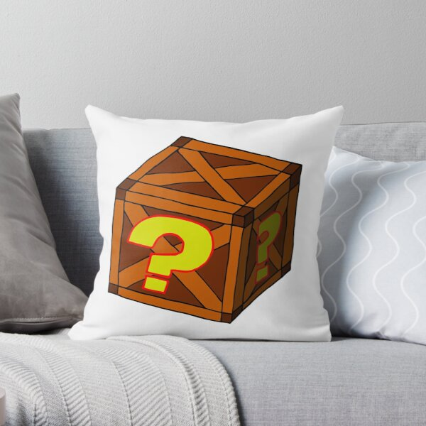 Mysterious Crate Throw Pillow