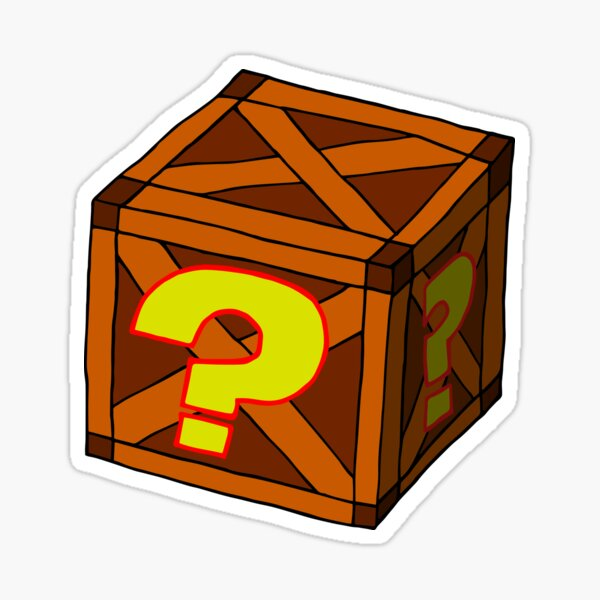 Mysterious Crate Sticker
