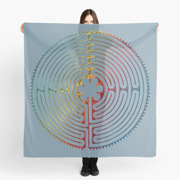 Sacred Geometry Symbol - Chartres Labyrinth 3 Scarf