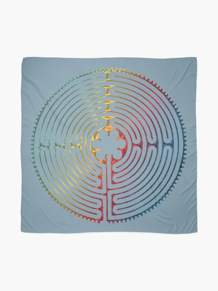 Alternate view of Sacred Geometry Symbol - Chartres Labyrinth 3 Scarf