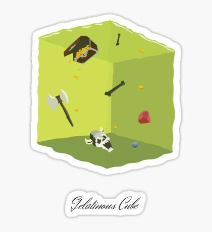 Gelatinous Cube Sticker
